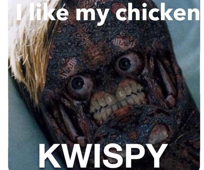 Photo caption - ike my chicken KWISPY