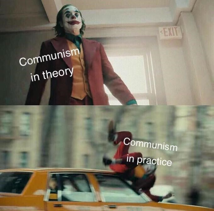 Fictional character - EXIT Communism in theory Communism in practice