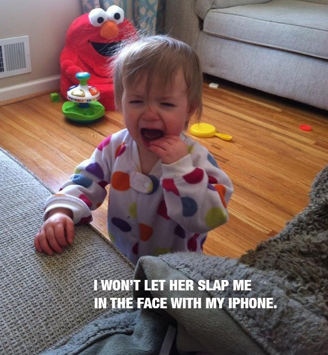 Child - WON'T LET HER SLAP ME IN THE FACE WITH MY IPHONE