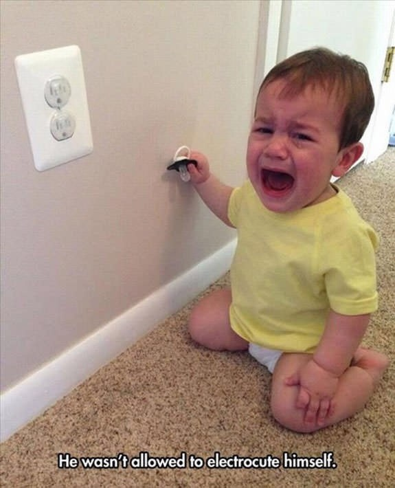 Child - He wasnt allowed to electrocute himself,