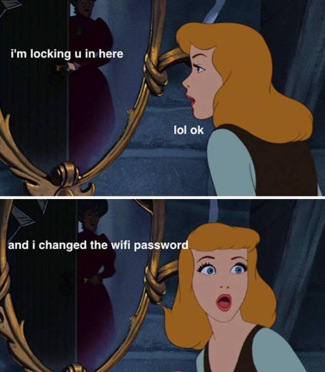 Cartoon - i'm locking u in here lol ok and i changed the wifi password