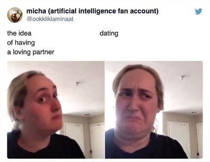 Face - micha (artificial intelligence fan account) @ookkliklaminaat the idea dating of having a loving partner