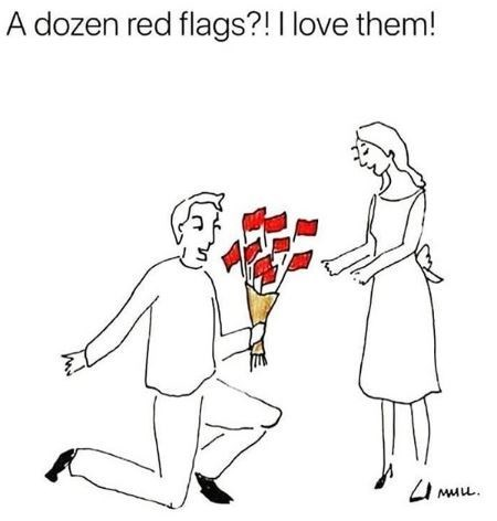 People - A dozen red flags?!I love them!