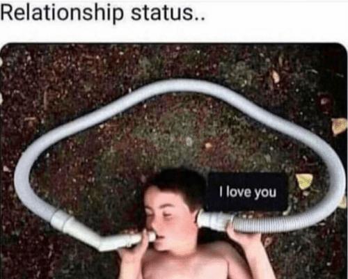Photo caption - Relationship status. I love you