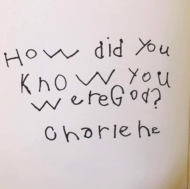 Text - HOw did u WYou KnreGod? Chorie he