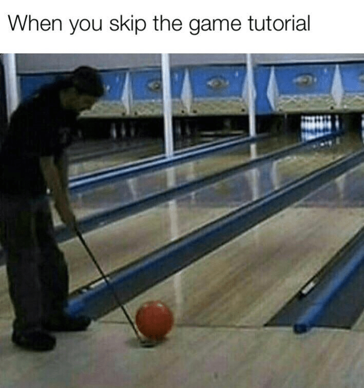 Bowling - When you skip the game tutorial