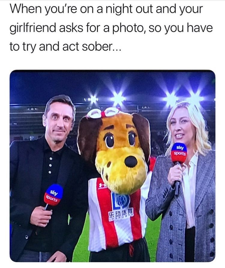 Selfie - When you're on a night out and your girlfriend asks for a photo, so you have to try and act sober... sly sports sky sports 乐动体同