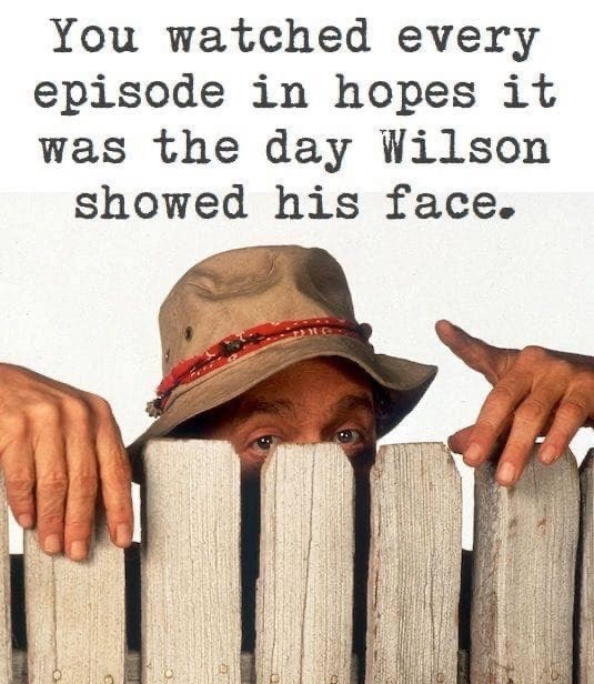 Text - You watched every episode in hopes it was the day Wilson showed his face.