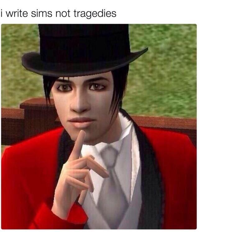 Hat - i write sims not tragedies