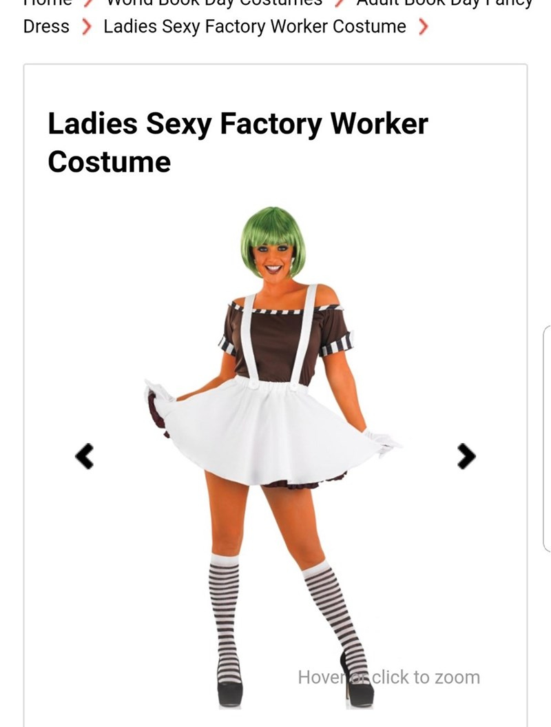 Costume - Ladies Sexy Factory Worker Costume > Dress Ladies Sexy Factory Worker Costume Hoverclick to zoom
