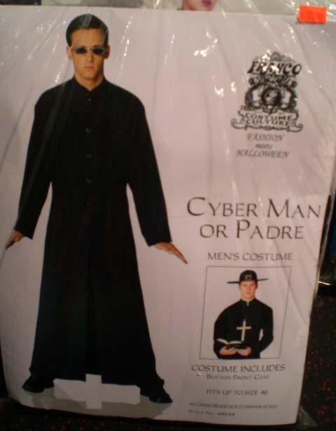 Outerwear - R6YCO OSTUMI EULVGRY 30LLOWEEN CYBER MAN OR PADRE MEN'S COSTUIME COSTUME INCLUDES Bros FT Co FITS LP TOsE 4