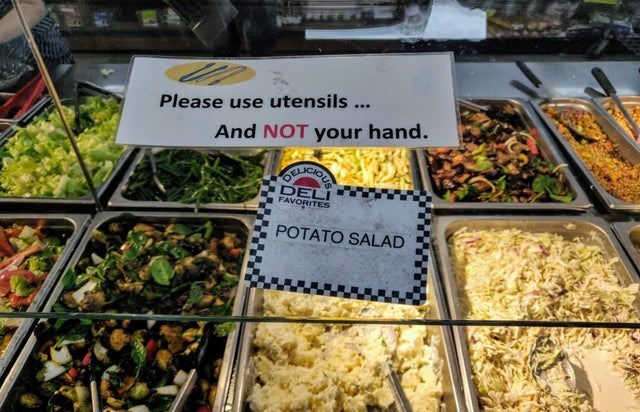 Natural foods - Please use utensils... And NOT your hand. 6ALICIOUS DELI FAVORITES POTATO SALAD