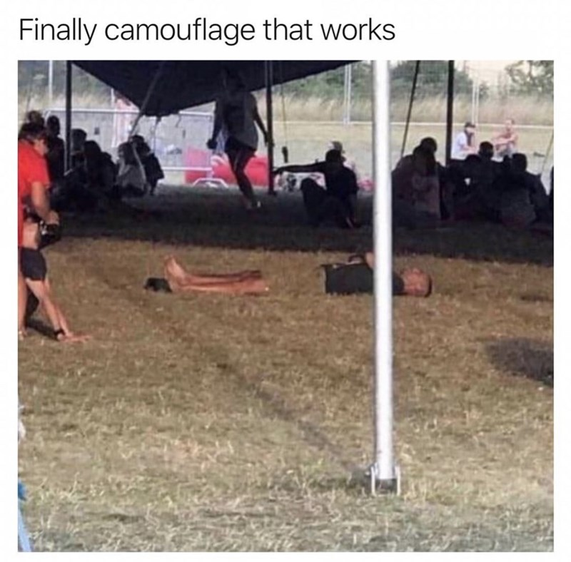 Grass - Finally camouflage that works