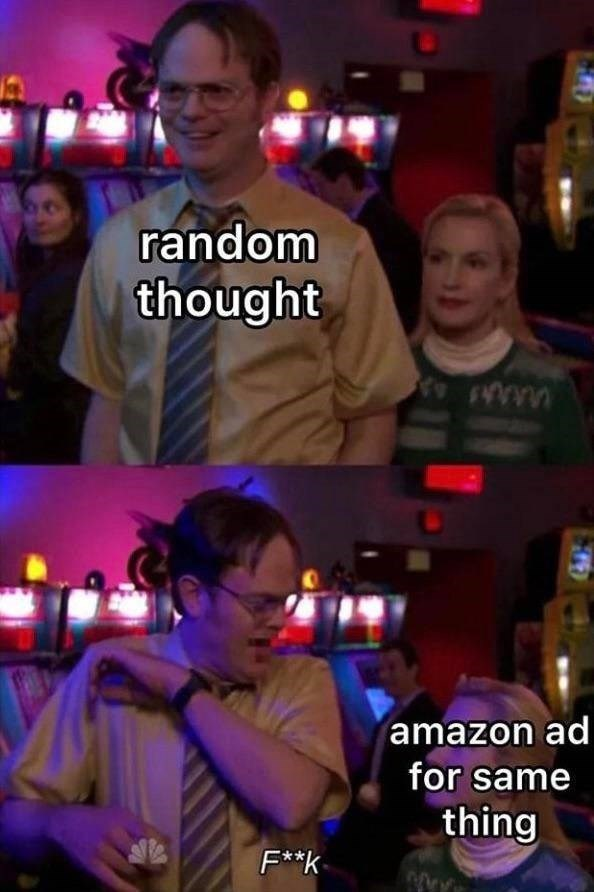 Photo caption - random thought www amazon ad for same thing F*k