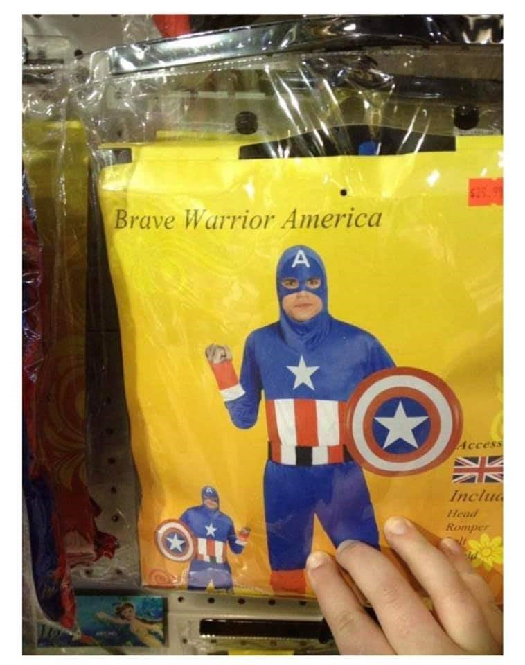 Action figure - $25.9 Brave Warrior America A Access Inclu Head Romper