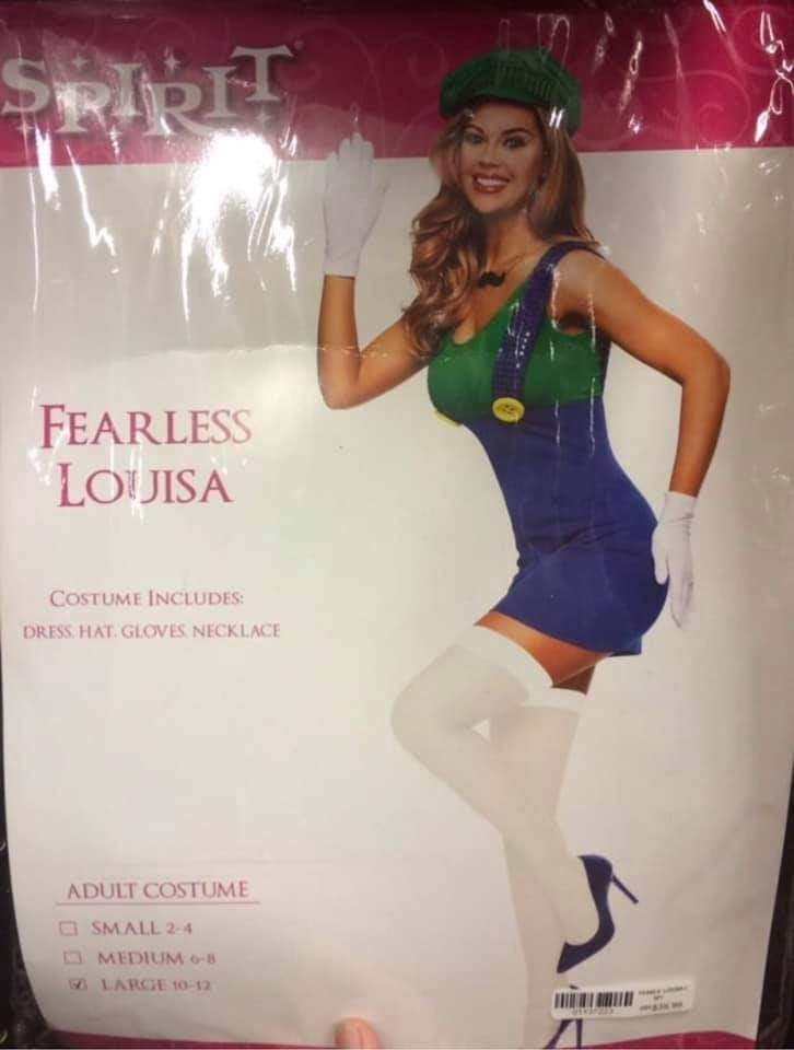 Thigh - ২ FEARLESS LOUISA COSTUME INCLUDES DRESS HAT GLOVES NECKLACE ADULT COSTUME SMALL 2-4 MEDIUM 6-8 LARGE 10-12