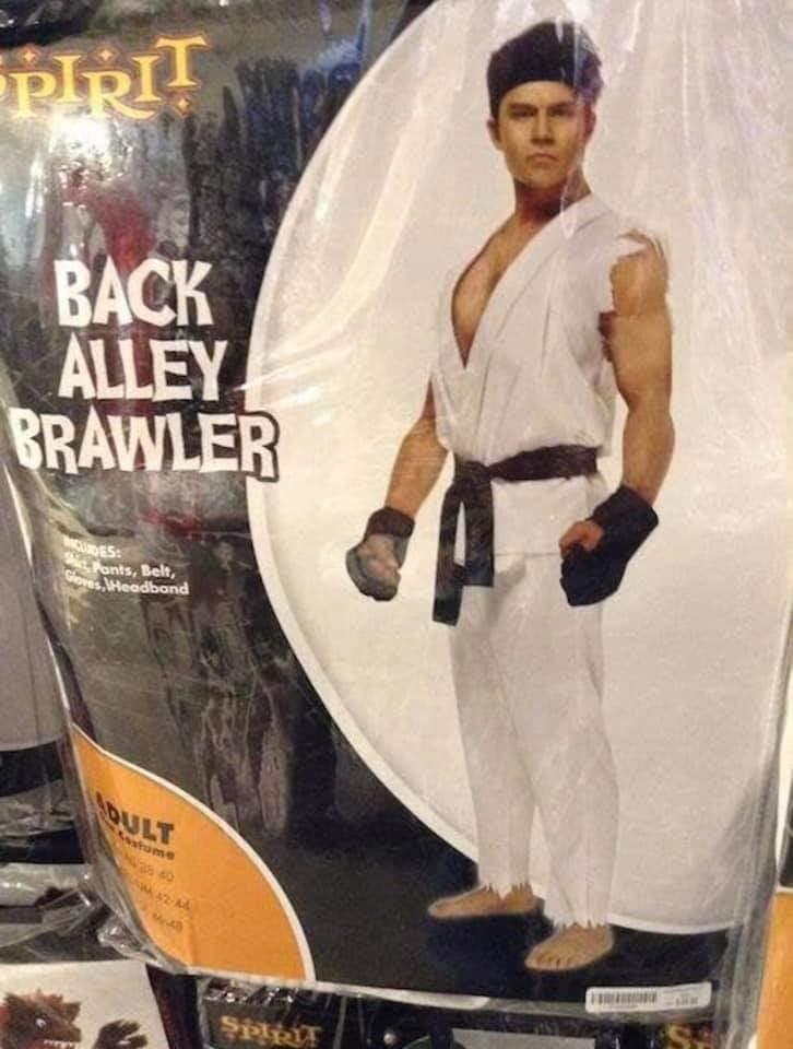 Action figure - BACK ALLEY BRAWLER UDES LFonts, Belt, Gloves lHeadband AQULT oatume