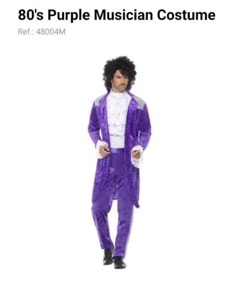 Purple - 80's Purple Musician Costume Ref.: 48004M