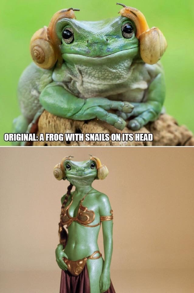 Action figure - ORIGINAL A FROG WITH SNAILS ON ITSHEAD