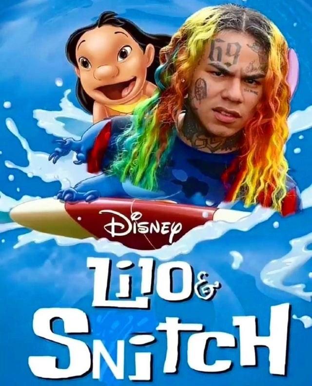 Funny meme about lilo & snitch 6ix9ine