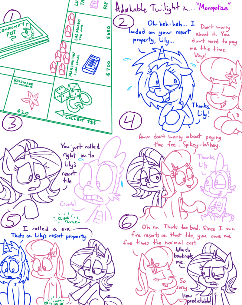 spike lily valley starlight glimmer vinyl scratch adorkable twilight and friends - 9366716160