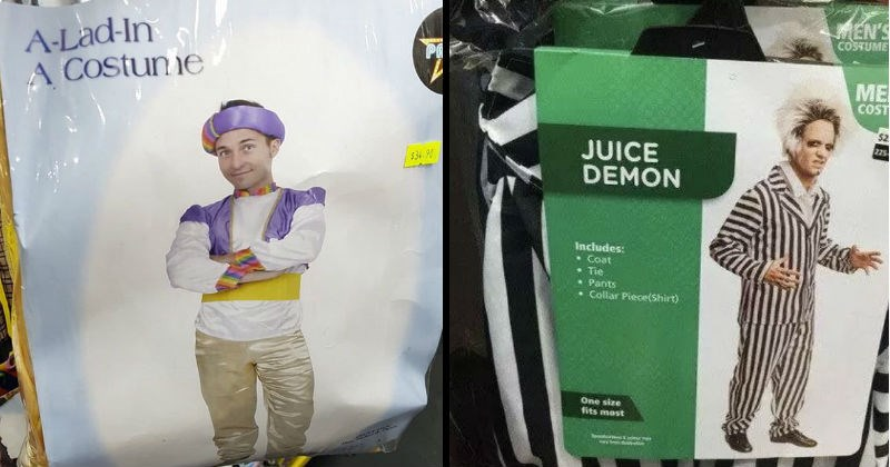 Funny and bad bootleg halloween costumes.