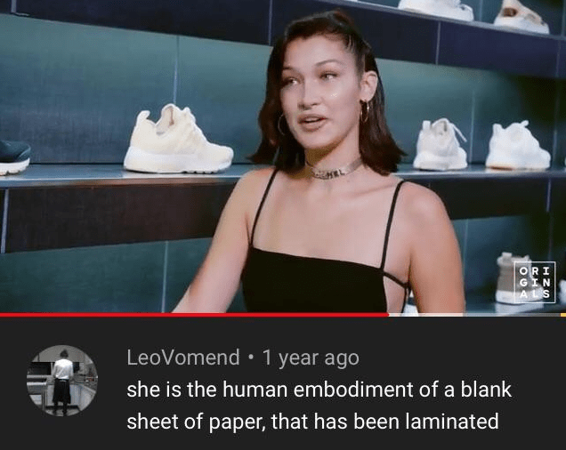 Photo caption - ORI GIN ALS LeoVomend 1 year ago she is the human embodiment of a blank sheet of paper, that has been laminated