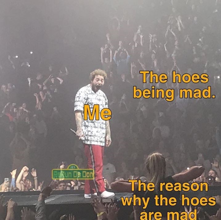 Font - The hoes being mad. Me 123 RERUN Da Don The reason why the hoes are mad