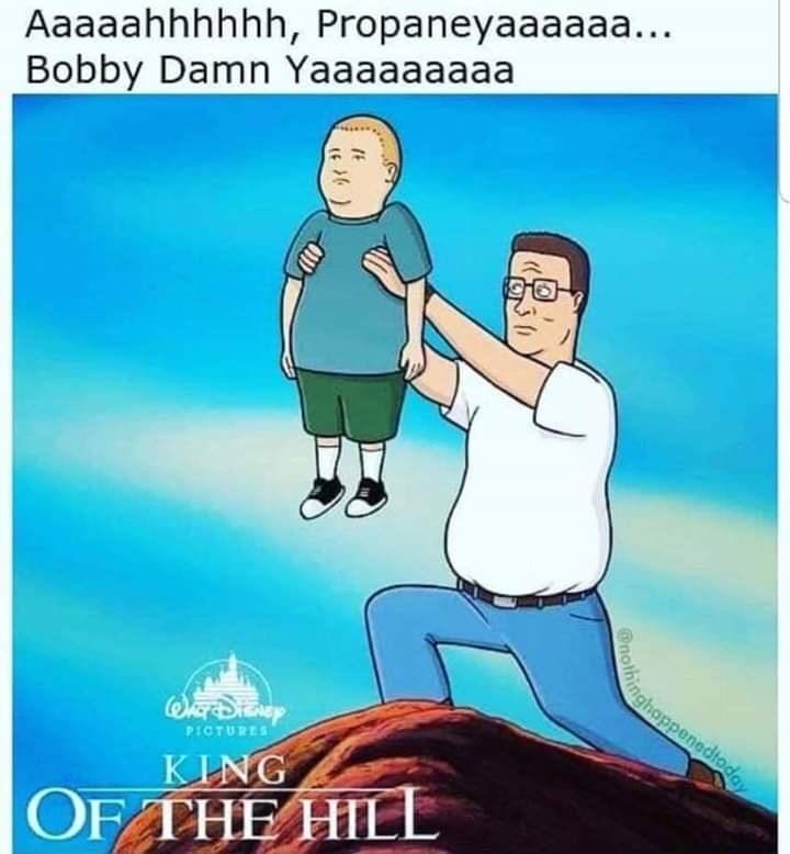 Cartoon - Aaaaahhhhhh, Propaneyaaaaaa... Bobby Damn Yaaaaaaaaa inghoppenedtoday PICTURES KING OF THE HILL @nothing