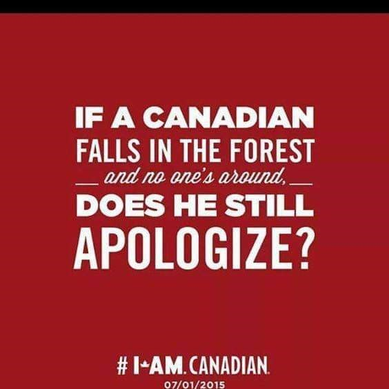 Font - IF A CANADIAN FALLS IN THE FOREST and no one's around DOES HE STILL APOLOGIZE? #I- AM.CANADIAN 07/01/2015