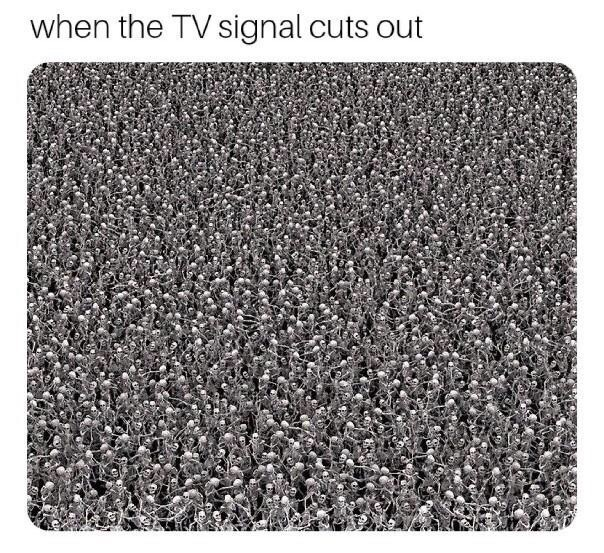 Mat - when the TV signal cuts out