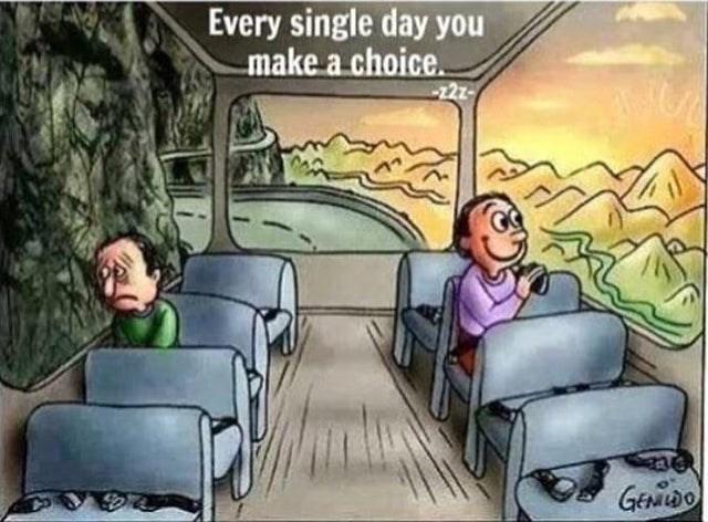 Cartoon - Every single day you make a choice Geao