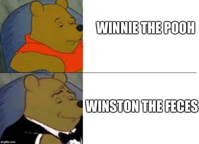 Cartoon - WINNIE THE POOH WINSTON THE FECES imgflip.com