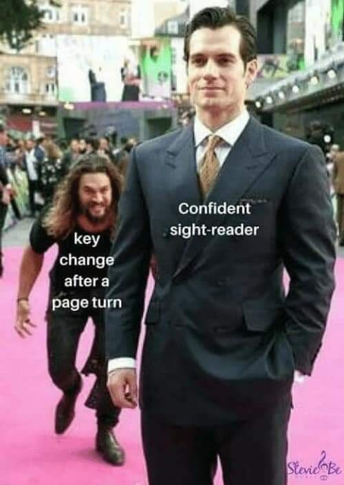 Suit - Confident sight-reader key change after a page turn Stevie Be