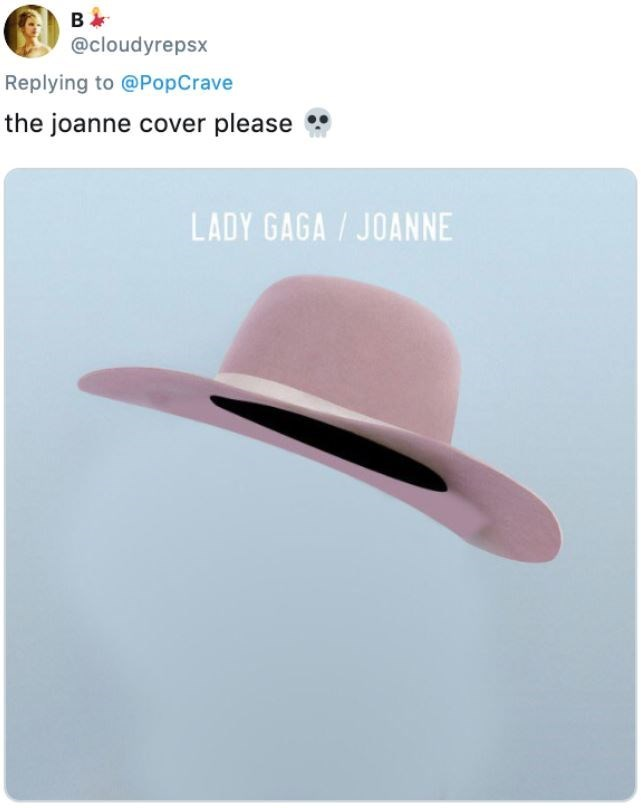 Clothing - B @cloudyrepsx Replying to @PopCrave the joanne cover please LADY GAGA/JOANNE