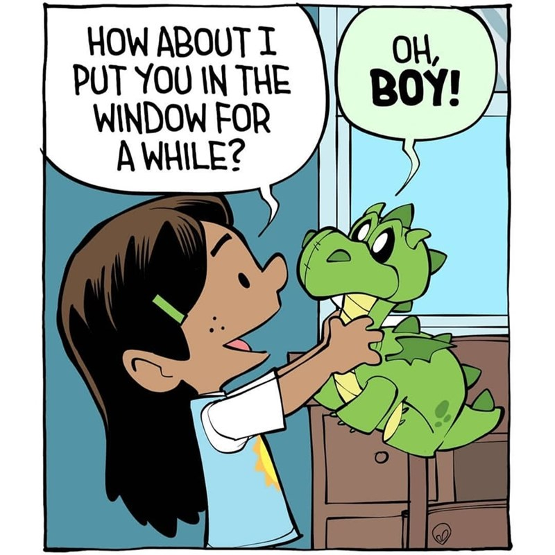 Cartoon - HOW ABOUT I PUT YOU IN THE WINDOW FOR A WHILE? ОН, BOY!