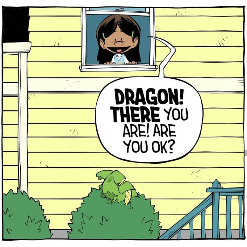 Cartoon - DRAGON! THERE YOU ARE! ARE YOU OK?