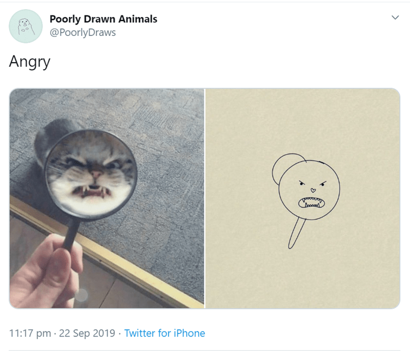 Text - Poorly Drawn Animals @PoorlyDraws Angry 11:17 pm 22 Sep 2019 Twitter for iPhone