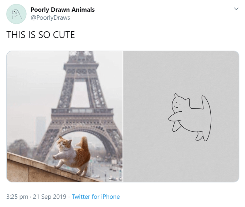 Text - Poorly Drawn Animals @PoorlyDraws THIS IS SO CUTE 3:25 pm 21 Sep 2019 Twitter for iPhone