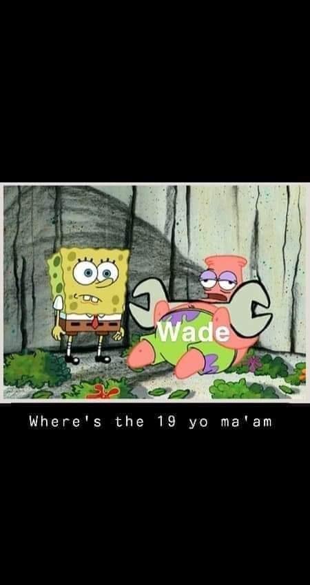 Animated cartoon - Wade Where's the 19 yo ma am