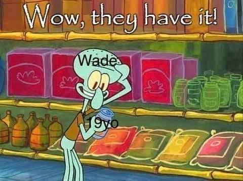Cartoon - Wow, they have it! Wade 9yo