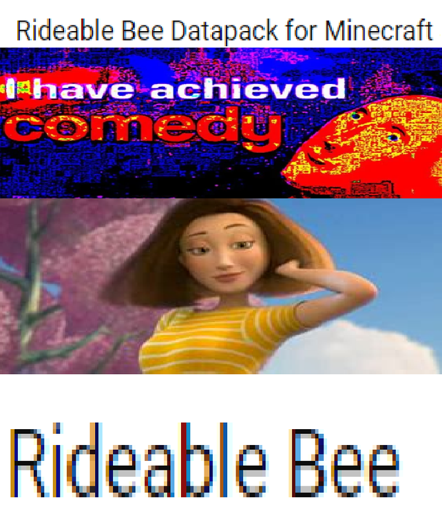 Text - Rideable Bee Datapack for Minecraft ahave achieved comedy Rideable Bee