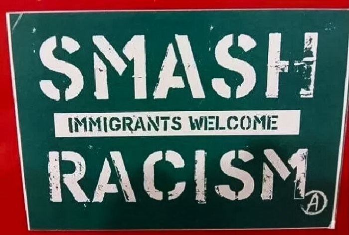 Font - SMASH IMMIGRANTS WELCOME RACISM