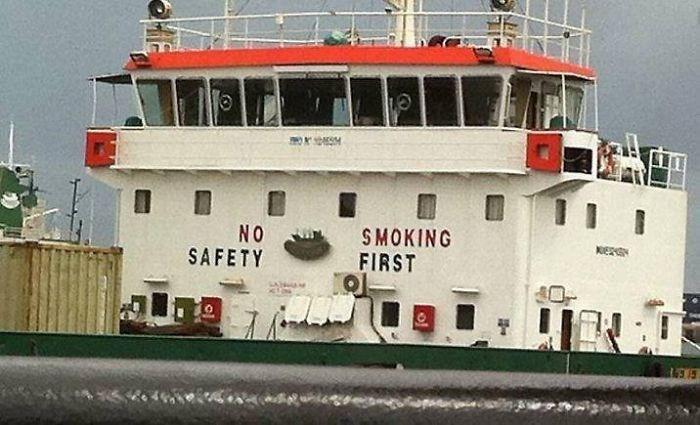 Water transportation - SMOKING FIRST NO SAFETY