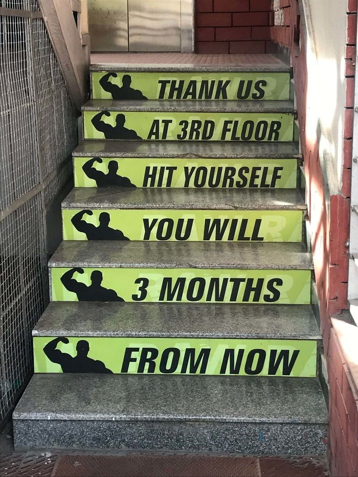 Stairs - THANK US AT 3RD FLOOR HIT YOURSELF YOU WILL 3 MONTHS FROM NOW