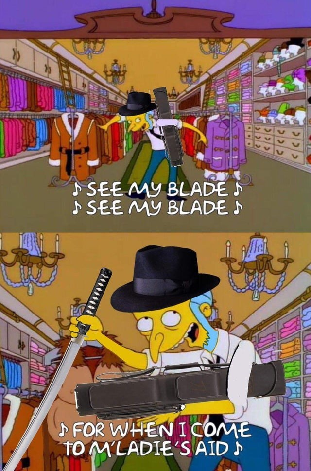 Cartoon - SEE MY BLADE SEE MY BLADE Trei FOR WHENI COME TO MLADIE S AID וכ