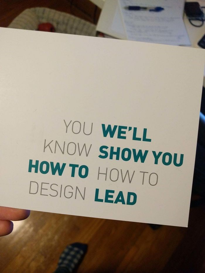 Text - YOU WE'LL KNOW SHOW YOU HOW TO HOW TO DESIGN LEAD
