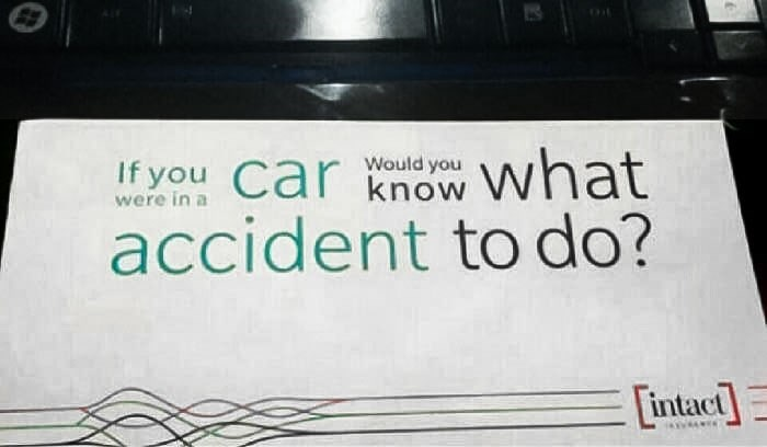 Font - If you Car know what accident to do? Would you were in a intact]