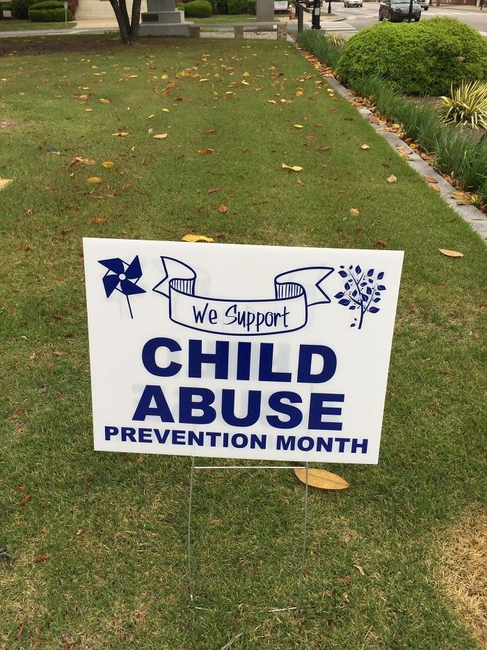 Grass - We Support CHILD ABUSE PREVENTION MONTH