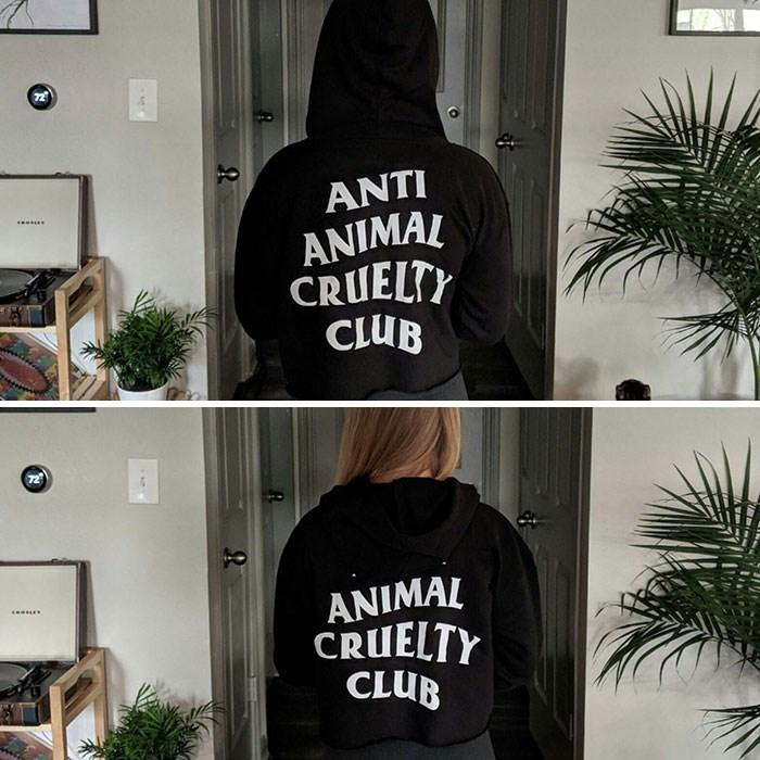 Clothing - ANTI ANIMAL CRUELTY CLUB 72 ANIMAL CRUELTY CLUB